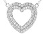 White Cubic Zirconia Rhodium Over Sterling Silver Heart Necklace 1.56ctw