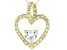 White Cubic Zirconia 18k Yellow Gold Over Sterling Silver Heart Pendant With Chain 1.78ctw