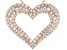 White Cubic Zirconia 18k Rose Gold Over Sterling Silver Heart Pendant With Chain 2.22ctw