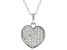 White Cubic Zirconia Rhodium Over Sterling Silver Heart Pendant With Chain 0.54ctw