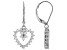 White Cubic Zirconia Rhodium Over Sterling Silver Heart Earrings 1.24ctw