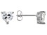 White Cubic Zirconia Rhodium Over Sterling Silver Heart Stud Earrings 2.56ctw