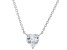 White Cubic Zirconia Rhodium Over Sterling Silver Heart Necklace 2.85ctw