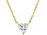 White Cubic Zirconia 18K Yellow Gold Over Sterling Silver Heart Necklace 2.85ctw