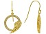 White Cubic Zirconia 18K Yellow Gold Over Sterling Silver Angel Wing Earrings 0.75ctw