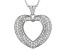 White Cubic Zirconia Rhodium Over Sterling Silver Heart Pendant With Chain 1.59ctw