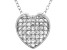 White Cubic Zirconia Rhodium Over Sterling Silver Heart Pendant With Chain 0.64ctw