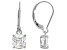 White Cubic Zirconia Rhodium Over Sterling Silver Earrings 2.91ctw