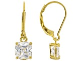 White Cubic Zirconia 18K Yellow Gold Over Sterling Silver Earrings 2.91ctw