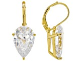 White Cubic Zirconia 18K Yellow Gold Over Sterling Silver Earrings 12.96ctw