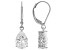 White Cubic Zirconia Rhodium Over Sterling Silver Earrings 5.94ctw