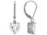 White Cubic Zirconia Rhodium Over Sterling Silver Heart Earrings 5.70ctw