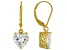 White Cubic Zirconia 18K Yellow Gold Over Sterling Silver Heart Earrings 5.70ctw
