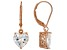 White Cubic Zirconia 18K Rose Gold Over Sterling Silver Heart Earrings 5.70ctw