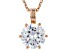 White Cubic Zirconia 18K Rose Gold Over Sterling Silver Solitaire Pendant With Chain 2.97ctw