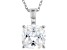 White Cubic Zirconia Rhodium Over Sterling Silver Solitaire Pendant With Chain 3.15ctw