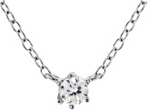 White Cubic Zirconia Rhodium Over Sterling Silver Necklace 0.14ctw