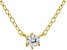 White Cubic Zirconia 18K Yellow Gold Over Sterling Silver Necklace 0.14ctw