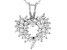 White Cubic Zirconia Rhodium Over Sterling Silver Heart Pendant With Chain 1.57ctw