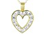 White Cubic Zirconia 18K Yellow Gold Over Sterling Silver Heart Pendant With Chain 2.45ctw