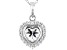 White Cubic Zirconia Rhodium Over Sterling Silver Heart Pendant With Chain 2.63ctw