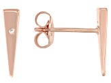 White Cubic Zirconia 18K Rose Gold Over Sterling Silver Earrings 0.01ctw