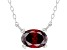 Red Cubic Zirconia Rhodium Over Sterling Silver Necklace 1.18ctw