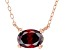 Red Cubic Zirconia 18K Rose Gold Over Sterling Silver Necklace 1.18ctw