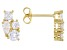 White Cubic Zirconia 18K Yellow Gold Over Sterling Silver Cluster Earrings 2.28ctw