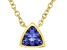 Blue Cubic Zirconia 18K Yellow Gold Over Sterling Silver Necklace 0.34ctw