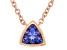 Blue Cubic Zirconia 18K Rose Gold Over Sterling Silver Necklace 0.34ctw