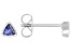 Blue Cubic Zirconia Rhodium Over Sterling Silver Stud Earrings 0.31ctw