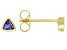 Blue Cubic Zirconia 18K Yellow Gold Over Sterling Silver Stud Earrings 0.31ctw