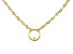 White Cubic Zirconia 18K Yellow Gold Over Sterling Silver Necklace 0.01ctw