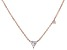 White Cubic Zirconia 18K Rose Gold Over Sterling Silver Triangle Necklace 0.70ctw
