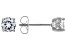 White Cubic Zirconia Rhodium Over Sterling Silver Stud Earrings 1.62ctw