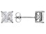 White Cubic Zirconia Rhodium Over Sterling Silver Stud Earrings 3.37ctw
