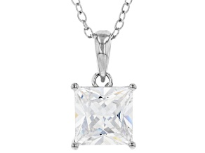 White Cubic Zirconia Rhodium Over Sterling Silver Pendant With Chain 2.70ctw