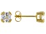 White Cubic Zirconia 18K Yellow Gold Over Sterling Silver Stud Earrings 1.84ctw