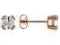 White Cubic Zirconia 18K Rose Gold Over Sterling Silver Stud Earrings 1.84ctw