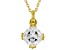 White Cubic Zirconia 18K Yellow Gold Over Sterling Silver Pendant With Chain 2.58ctw