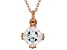 White Cubic Zirconia 18K Rose Gold Over Sterling Silver Pendant With Chain 2.58ctw