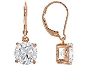 White Cubic Zirconia 18K Rose Gold Over Sterling Silver Earrings 7.07ctw