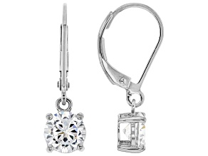 White Cubic Zirconia Rhodium Over Sterling Silver Earrings 2.70ctw