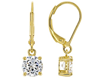 Picture of White Cubic Zirconia 18K Yellow Gold Over Sterling Silver Earrings 2.70ctw