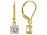 White Cubic Zirconia 18K Yellow Gold Over Sterling Silver Earrings 2.70ctw
