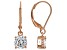 White Cubic Zirconia 18K Rose Gold Over Sterling Silver Earrings 2.70ctw