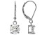 White Cubic Zirconia Rhodium Over Sterling Silver Earrings 4.37ctw
