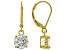 White Cubic Zirconia 18K Yellow Gold Over Sterling Silver Earrings 4.37ctw