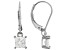 White Cubic Zirconia Rhodium Over Sterling Silver Earrings 1.53ctw